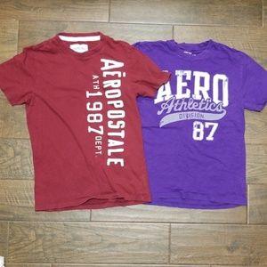 LOT OF 2!! Aeropostale Tshirts Medium